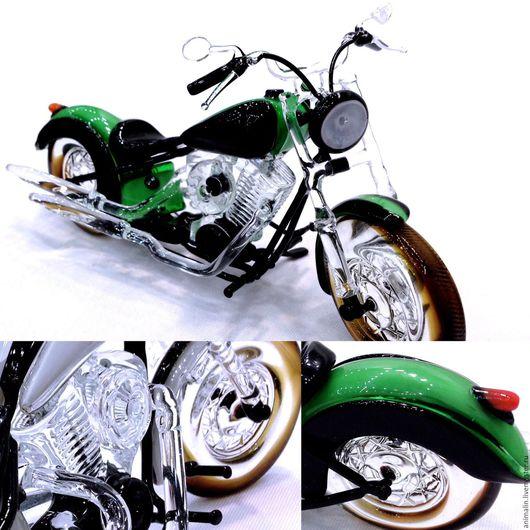 Статуэтки ручной работы. Ярмарка Мастеров - ручная работа. Купить Интерьерная скульптура из стекла - Машина для верховой езды. Мотоцикл. Handmade.