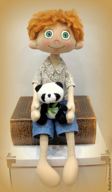 Коллекционные куклы ручной работы. Ярмарка Мастеров - ручная работа. Купить Лёшка. Handmade. Мальчик, хулиган, подарок для девочки, лён