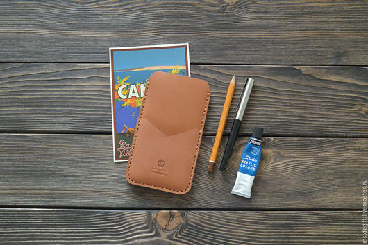 Для телефонов ручной работы. Ярмарка Мастеров - ручная работа. Купить Чехол для iPhone 6, 6 Plus из натуральной кожи. Handmade.