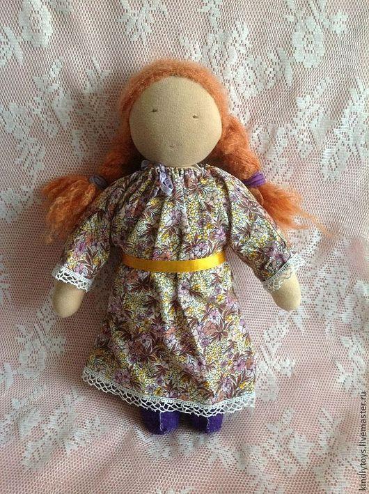 Вальдорфская игрушка ручной работы. Ярмарка Мастеров - ручная работа. Купить Вальдорфская кукла Леночка. Handmade. Бежевый, кукла в подарок