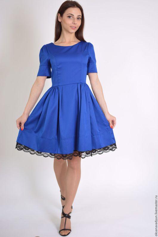 Платья ручной работы. Ярмарка Мастеров - ручная работа. Купить Платье Lady in blue. Handmade. Синий, дизайнерское платье