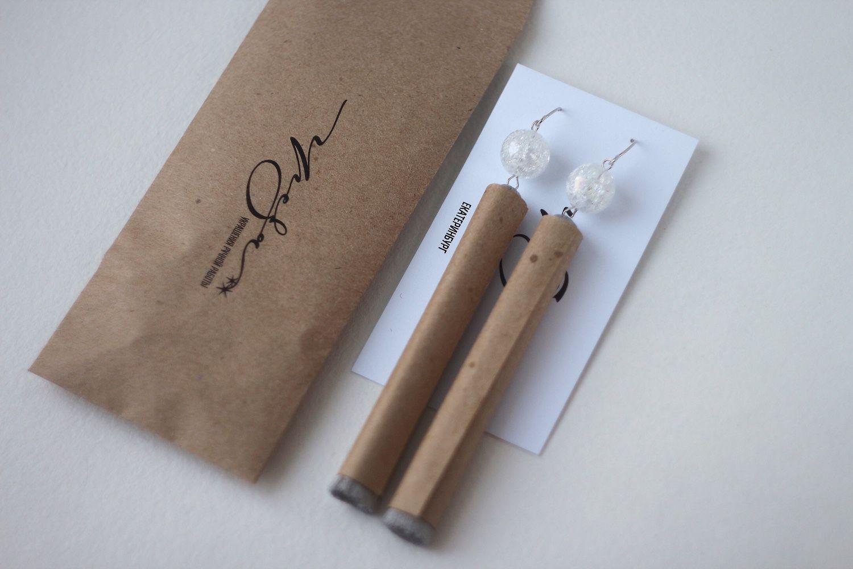 Упаковка для сережек кисточек