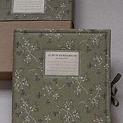Канцелярские товары handmade. Livemaster - original item Album for the herbarium At the brook (A4, 20 plants, Kraft). Handmade.