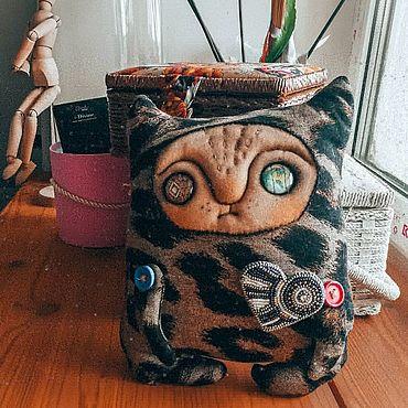 Куклы и игрушки ручной работы. Ярмарка Мастеров - ручная работа Унылый кот. Handmade.