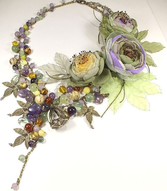 Morning Sun Vineyard. Necklaces, brooches, handmade flowers, Jewelry Sets, St. Petersburg,  Фото №1