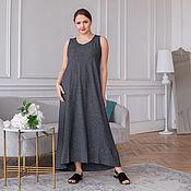 handmade. Livemaster - original item Basic floor-length tank top dress in grey. Handmade.