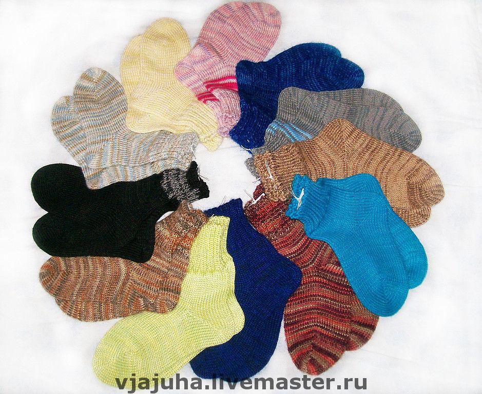 Вязанные теплые носочки