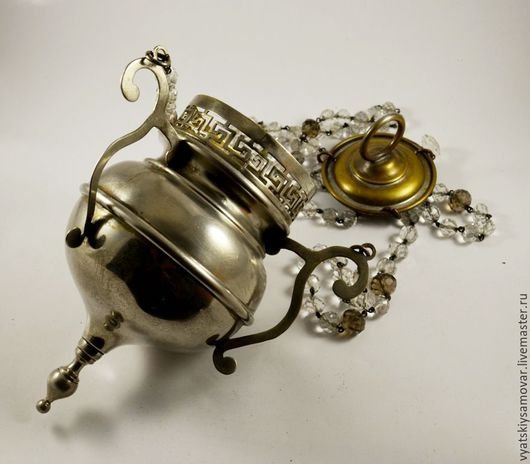 Винтажные предметы интерьера. Ярмарка Мастеров - ручная работа. Купить Церковная лампадка Польша до 1917 г серебрение латунь. Handmade.