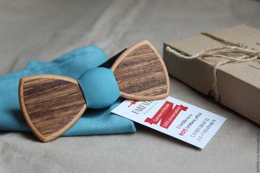Деревянная галстук-бабочка ручной работы от компании Farfalla-rus.