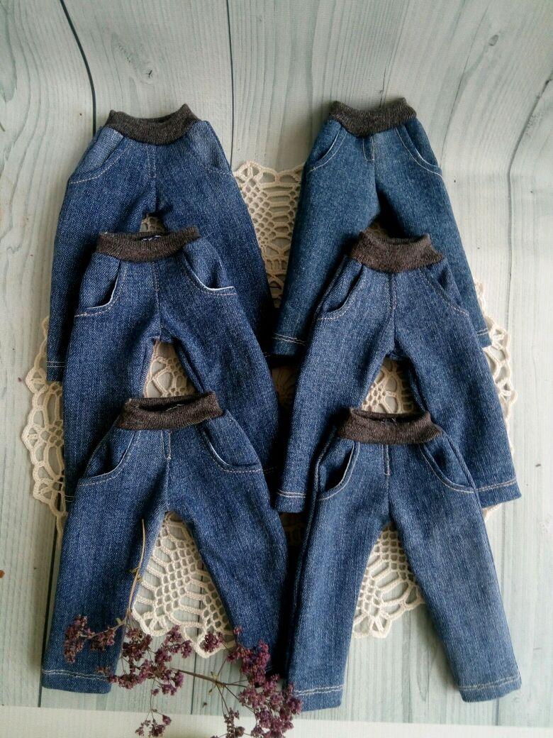 Джинсы для текстильных кукол ростом 28-30 см, Одежда для кукол, Самара,  Фото №1
