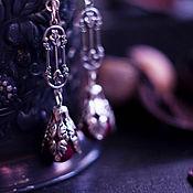 """Украшения ручной работы. Ярмарка Мастеров - ручная работа Серьги """"Рубиновые цветы"""". Handmade."""