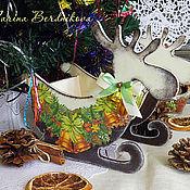 """Подарки к праздникам ручной работы. Ярмарка Мастеров - ручная работа Санки """"Jingle Bells"""". Handmade."""