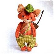 Куклы и игрушки ручной работы. Ярмарка Мастеров - ручная работа Лис тедди Робин Гуд. Handmade.
