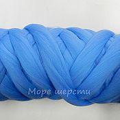 Материалы для творчества handmade. Livemaster - original item Australian merino - 18 mkr - 50g - Dark blue  (September). Handmade.