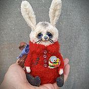 Куклы и игрушки ручной работы. Ярмарка Мастеров - ручная работа зайка тедди маленький зайчик карманный мишка. Handmade.