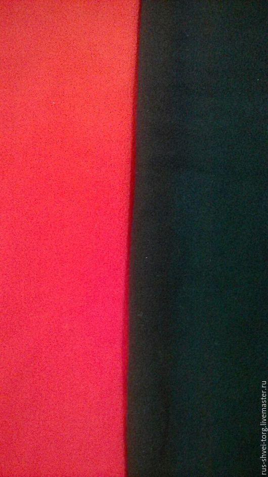 Флис 180гр./м2 Красный, чёрный.