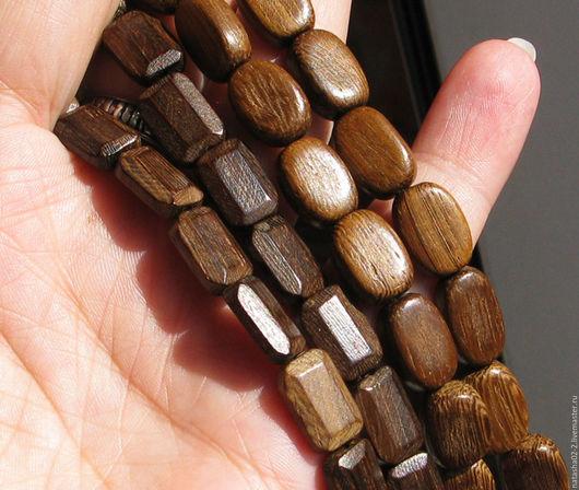 Для украшений ручной работы. Ярмарка Мастеров - ручная работа. Купить РОБЛЕС деревянные бусины. Handmade. Коричневый, древесина