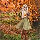 """Платья ручной работы. Ярмарка Мастеров - ручная работа. Купить Платье """"Осень"""". Handmade. Оливковый, платье для выпускного, фатин мягкий"""