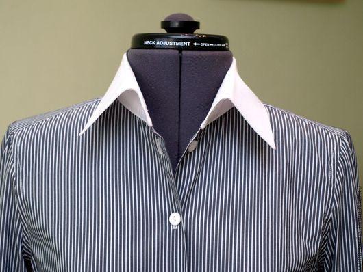 Блузки ручной работы. Ярмарка Мастеров - ручная работа. Купить блузка женская. Handmade. Чёрно-белый, офисный стиль