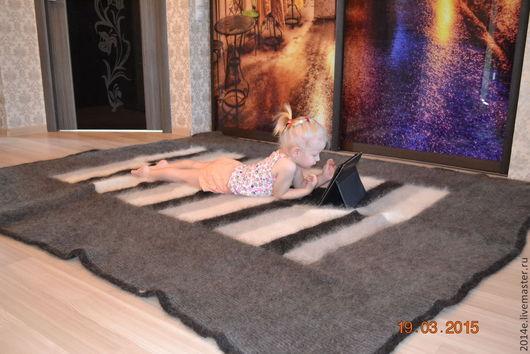 Текстиль, ковры ручной работы. Ярмарка Мастеров - ручная работа. Купить Плед-одеяло  вязаный пуховый. Handmade. Плед