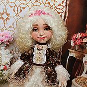 Кукла текстильная. Мария кукла интерьерная с объемным личиком