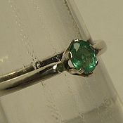 Украшения handmade. Livemaster - original item Natural emerald & 925 silver ring. Handmade.