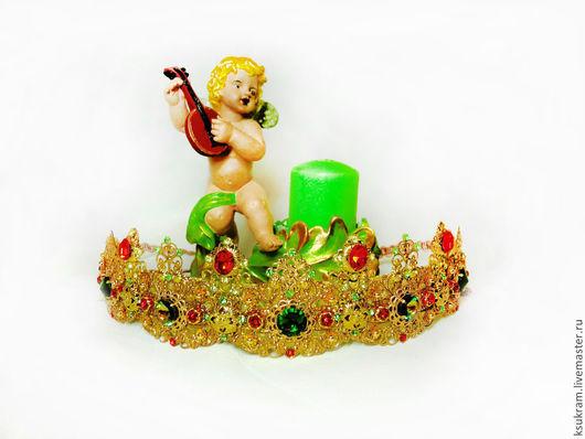 Диадемы, обручи ручной работы. Ярмарка Мастеров - ручная работа. Купить Корона,тиара в стиле Дольче габбана (работа сделана под заказ). Handmade.
