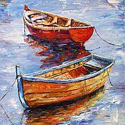 Картина маслом Лодки