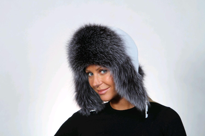 Women's hat winter fur bluefrost, Caps, Moscow,  Фото №1