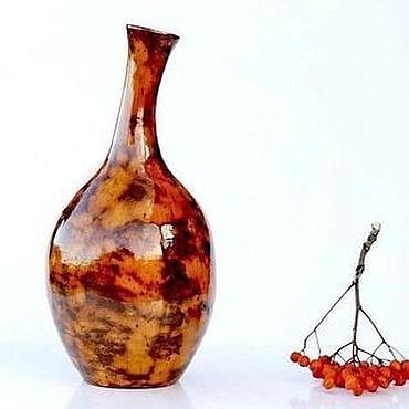 Для дома и интерьера ручной работы. Ярмарка Мастеров - ручная работа Ваза бутылка керамическая Солнцепоклонник. Handmade.