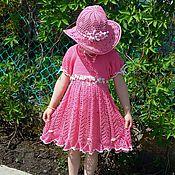 """Работы для детей, ручной работы. Ярмарка Мастеров - ручная работа Вязаное платье  """"Дыхание лета"""". Handmade."""