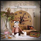 """Куклы и игрушки ручной работы. Ярмарка Мастеров - ручная работа Набор """"Авиатор"""": тильда мишка и настенные часы. Handmade."""