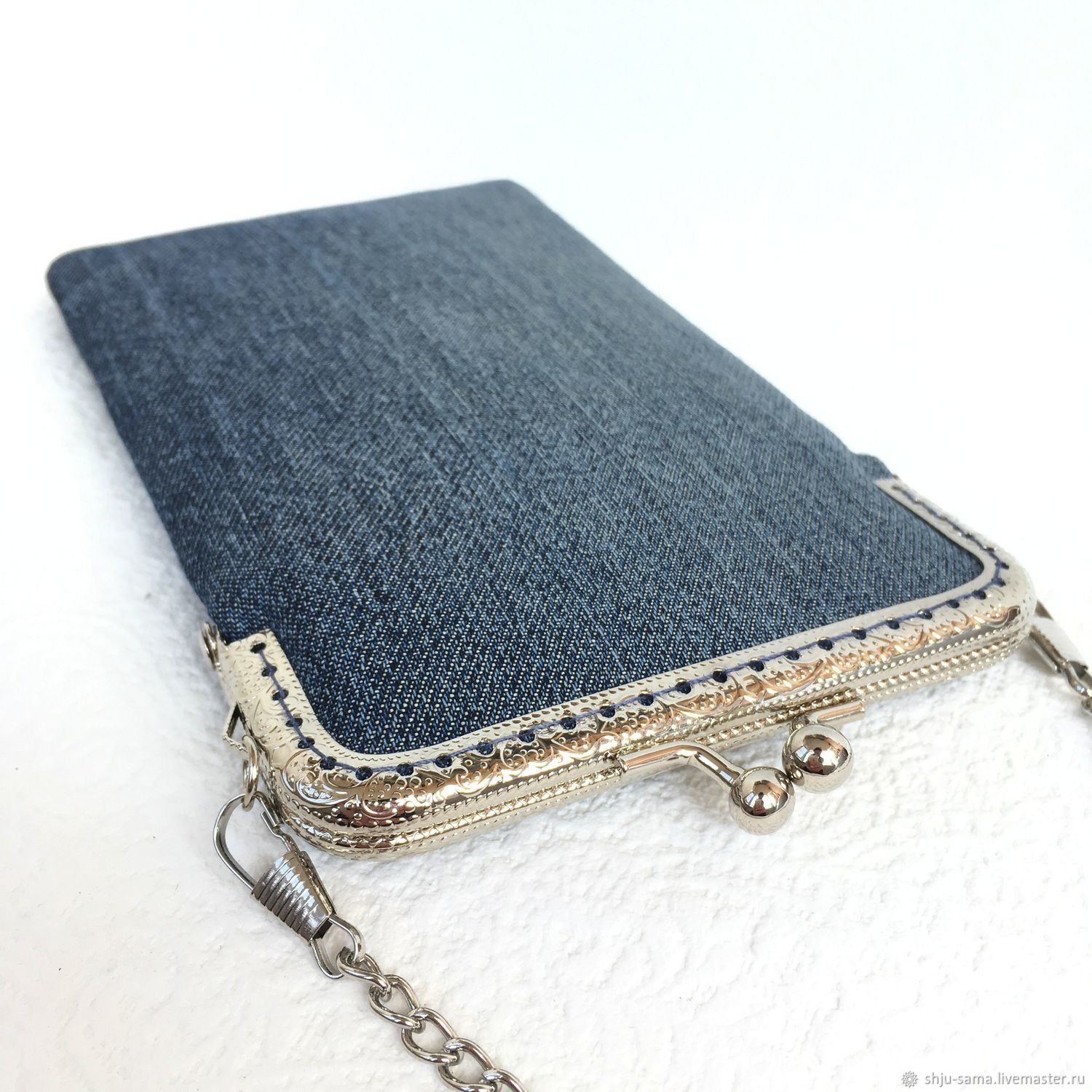 Case for a smart phone 'time Jeans' denim, Case, Moscow,  Фото №1