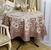 Для дома и интерьера ручной работы. Ярмарка Мастеров - ручная работа Скатерть круглая коричневая. Handmade.