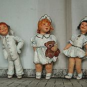 """Подарки к праздникам ручной работы. Ярмарка Мастеров - ручная работа Игрушки из ваты """" Снежинки и Зайчик"""". Handmade."""