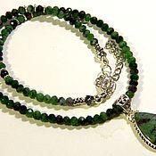 Материалы для творчества handmade. Livemaster - original item Beads made of Cyosite antique silver.. Handmade.