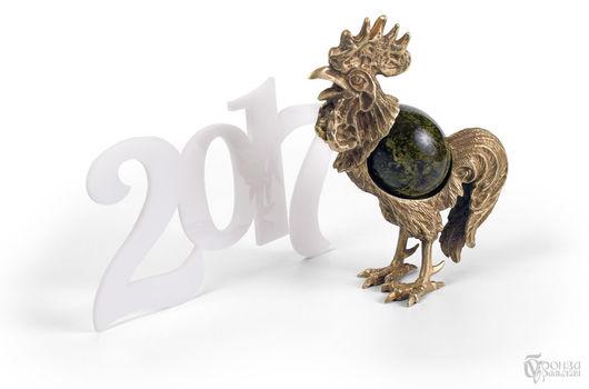 Новый год 2017 ручной работы. Ярмарка Мастеров - ручная работа. Купить Петух. Handmade. Скульптура, статуэтка, петушок, змеевик, петухи