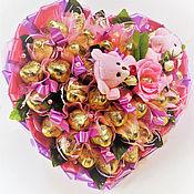 """Подарки к праздникам ручной работы. Ярмарка Мастеров - ручная работа Букет из конфет """"Единственная"""". Handmade."""