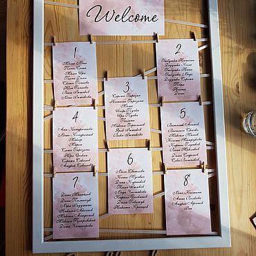 Свадебный салон ручной работы. Ярмарка Мастеров - ручная работа План рассадки. Handmade.