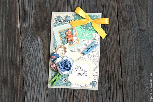 """Открытки к юбилею ручной работы. Ярмарка Мастеров - ручная работа. Купить Открытка """"Для тебя"""" (открытка ручной работы). Handmade."""
