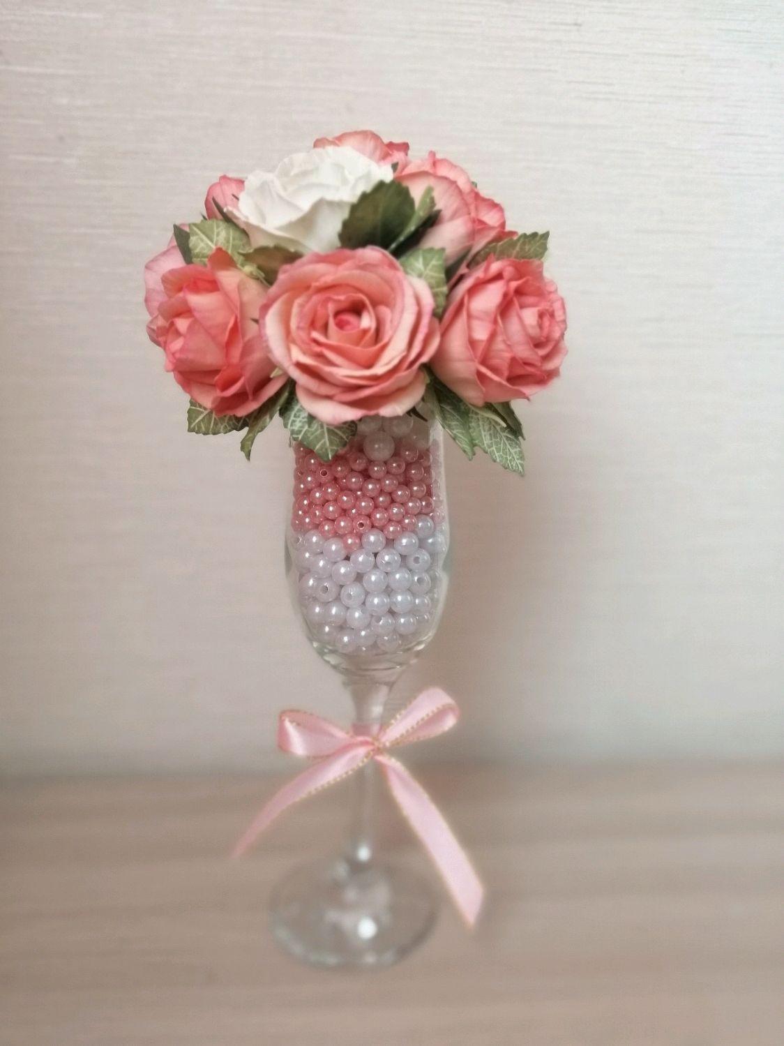 """Броши ручной работы. Ярмарка Мастеров - ручная работа. Купить Цветочная композиция с розами из фоамирана """"Нежность"""". Handmade."""