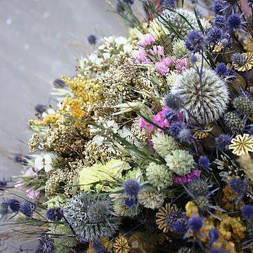 """Цветы и флористика ручной работы. Ярмарка Мастеров - ручная работа Букет из сухоцветов """"в любимую вазочку"""" объём до 40см. Handmade."""