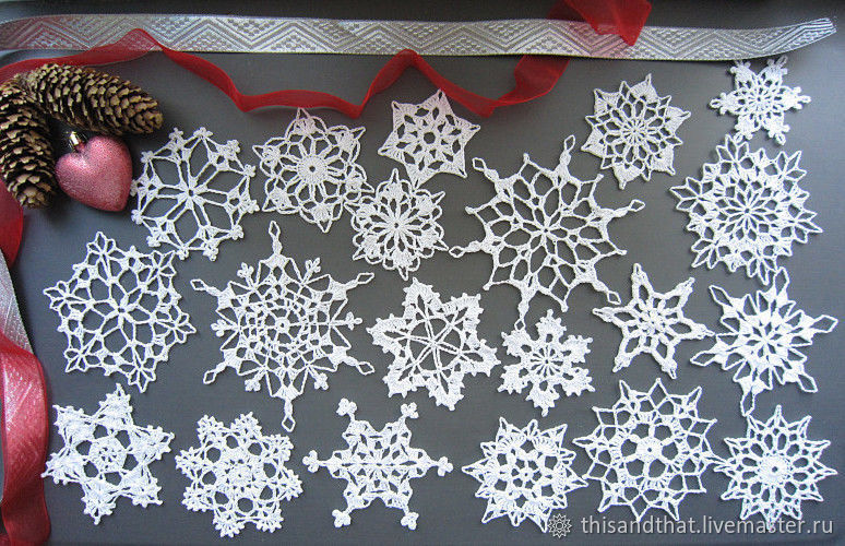 Snowflake Knitted 30 Pcs Christmas Decor For The Home Shop Online