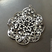 Материалы для творчества handmade. Livemaster - original item Large pendant for jewelry art. 7-12 with dark floors and. Handmade.