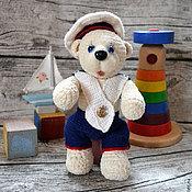 Куклы и игрушки ручной работы. Ярмарка Мастеров - ручная работа Мишка - морячок. Handmade.