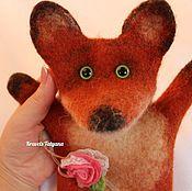 """Куклы и игрушки handmade. Livemaster - original item Валяная кукла перчатка """"бибабо""""  Лисичка. Handmade."""