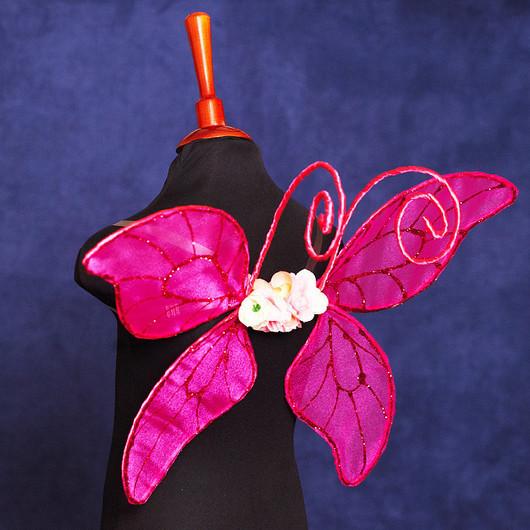 """Карнавальные костюмы ручной работы. Ярмарка Мастеров - ручная работа. Купить """"Ярко-розовые"""" крылья бабочки или феи карнавальный костюм. Handmade."""