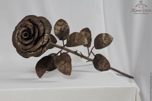 Цветы ручной работы. Ярмарка Мастеров - ручная работа. Купить Большая кованая роза. Handmade. Разноцветный, кованые цветы, интерьер