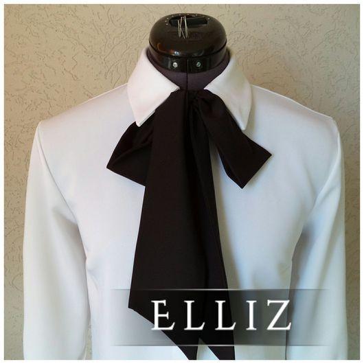 Блузки ручной работы. Ярмарка Мастеров - ручная работа. Купить Удлиненная блуза № 313. Handmade. Белый