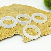 Украшения handmade. Livemaster - original item White chalcedony ring with 17 p-R cut. Handmade.